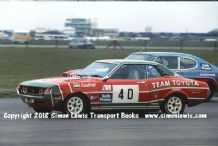 TOYOTA CELICA  Win Percy . Photo. Suilverstone RAC Saloons (BTCC) 11 April 1976